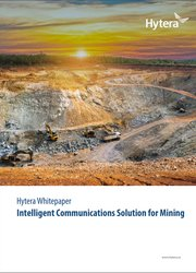 Hytera Intelligent Communications Solution for Mining